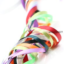 (50 yards/roll) 6mm-10mm Single Face Satin Ribbon Webbing Decaration Gift Christmas Ribbons garment ribbon(China)
