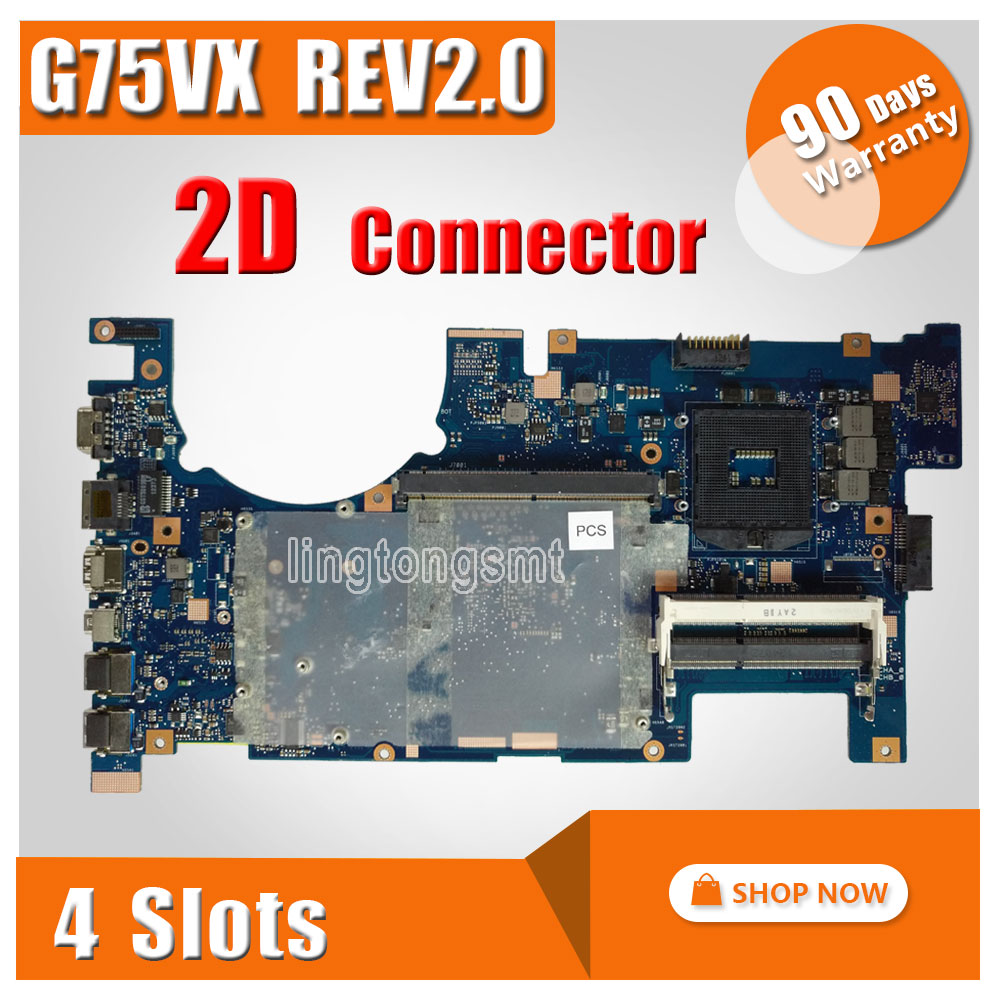 все цены на For ASUS G75VX Laptop Motherboard support I7 CPU high quality 2D connector G75VX Mainboard fully Tested & working perfect онлайн
