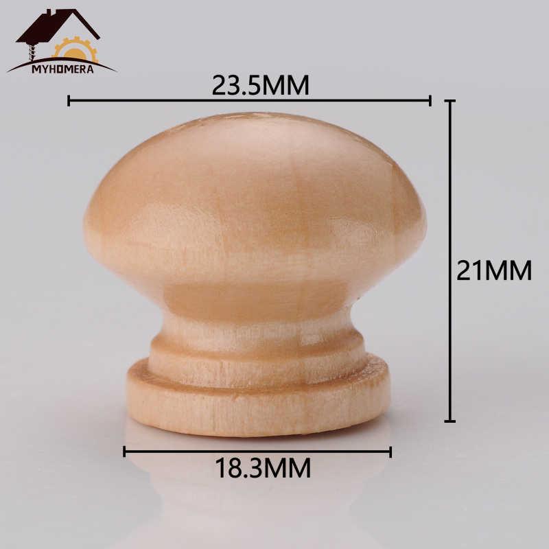 Myhomera 10Pcs Holz Knob Schublade Zieht Schrank Schrank Griff Runde Knöpfe Küche Möbel Hardware Großhandel Lot 24*21mm
