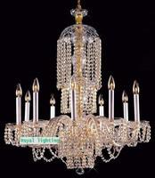 Free Shipping Led Crystal Falls Luminaria Large Extravagant Chandelier For Hotel Villa E14 Led Bulb Modern
