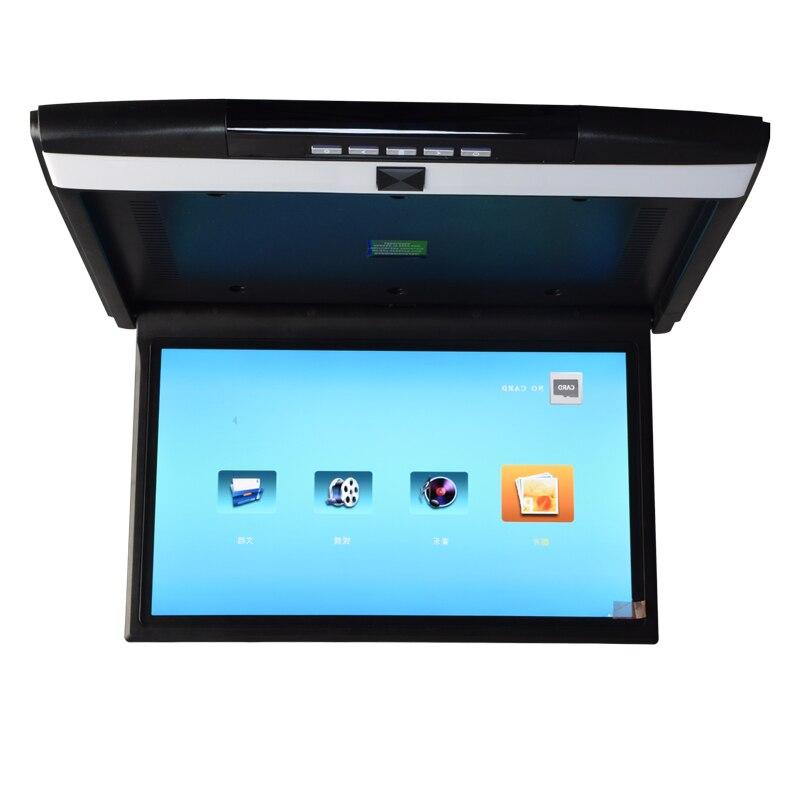 17.3 pollice Auto Monitor da Tetto Montato LED digitale di Vibrazione Dello Schermo di Imbottiture Monitor del monitor del soffitto dell'automobile di Sostegno HD 1080 p IR /FM USB SD HDMI