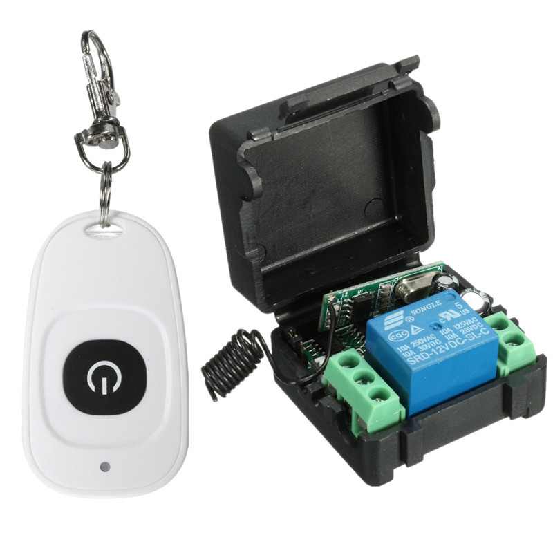 Newest DC 12v 10A Relay 1CH wireless RF Remote Control Switch Transmitter + Receiver