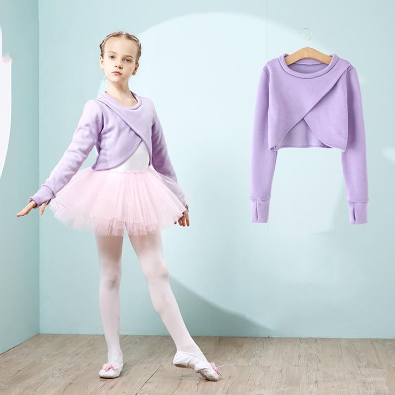 Ballet justaucorps filles Tutu robe mode danse Costumes pour enfants à manches longues body hiver Plus velours Dancewear vêtements DC1219 - 5