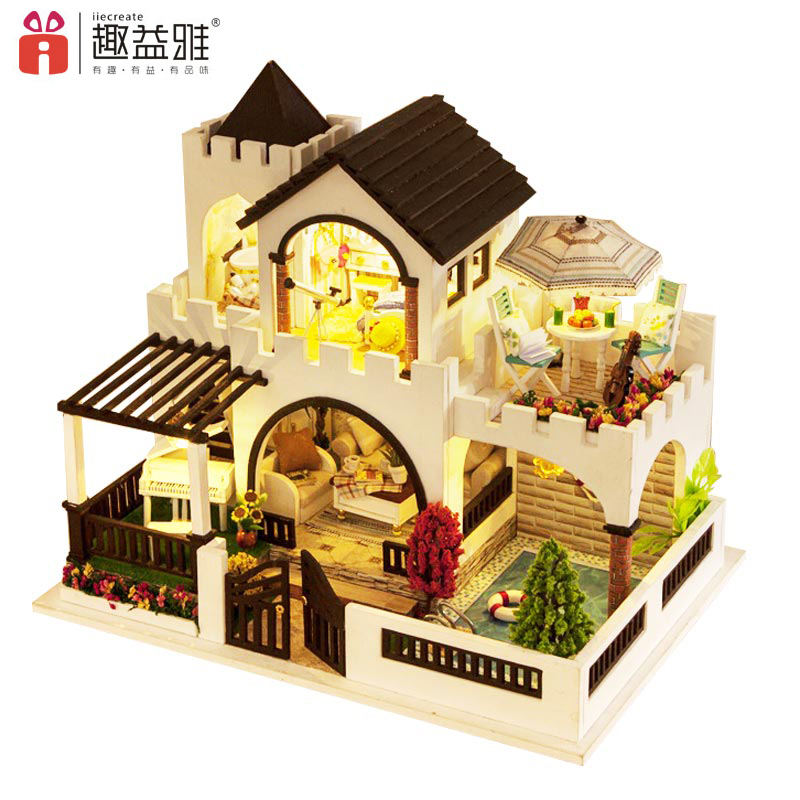 iiE CREATE Kids Christmas Gifts Toys Doll House Model Building Handmade DIY 3D Miniature Dollshouse Houses Dream Castle cyprus villages traditional houses 3 ларнака