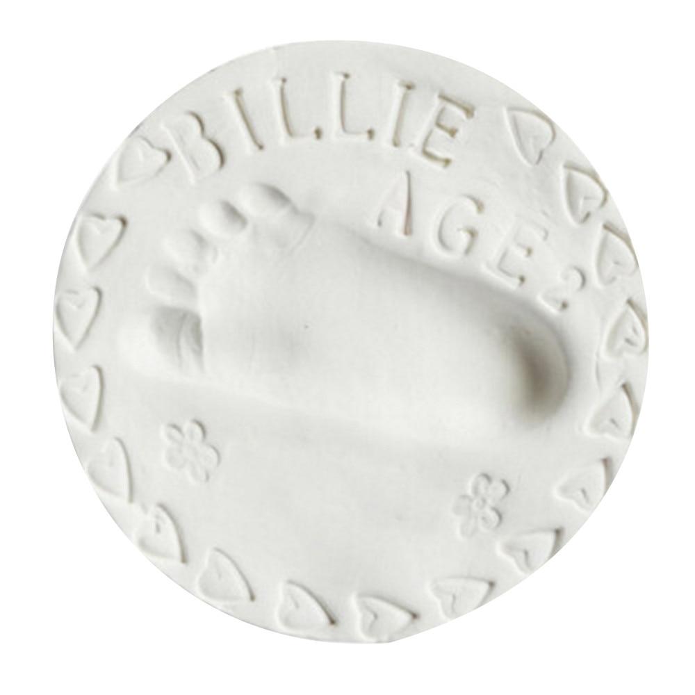 Baby Souvenirs Baby Air Drying Soft Clay Handprint Footprint Imprint Casting Parent-child Hand Inkpad Fingerprint  Dropshipping