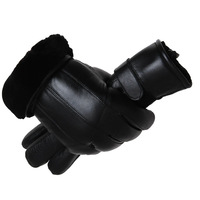 Direct selling motorcycle gloves cold proof winter Mittens Male warm and thickened leather gloves men's real sheepskin gloves