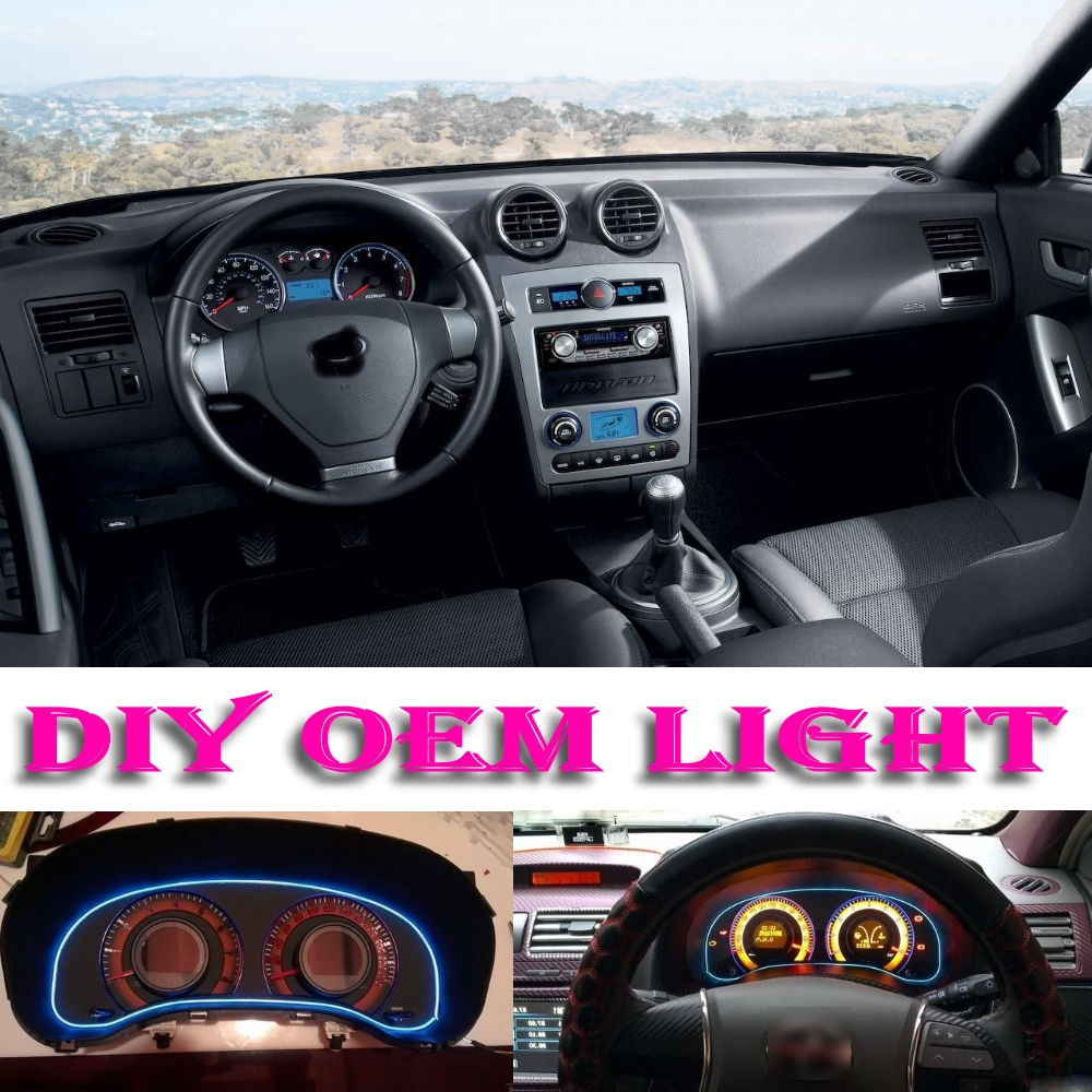 car atmosphere light flexible neon light el wire interior light decorative decals tags tuning. Black Bedroom Furniture Sets. Home Design Ideas