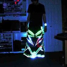 Штаны с флуоресцентными штанами в стиле танц, с флуоресцентными штанами, штаны с флуоресцентными штанами для DJ PHAT