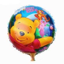 Birthday Pooh Foil Balloons Birthday Party Decoration Cartoon Cute Winnie Birthday Baby Shower Birthday Balloon кольцо orxi birthday 2010001330