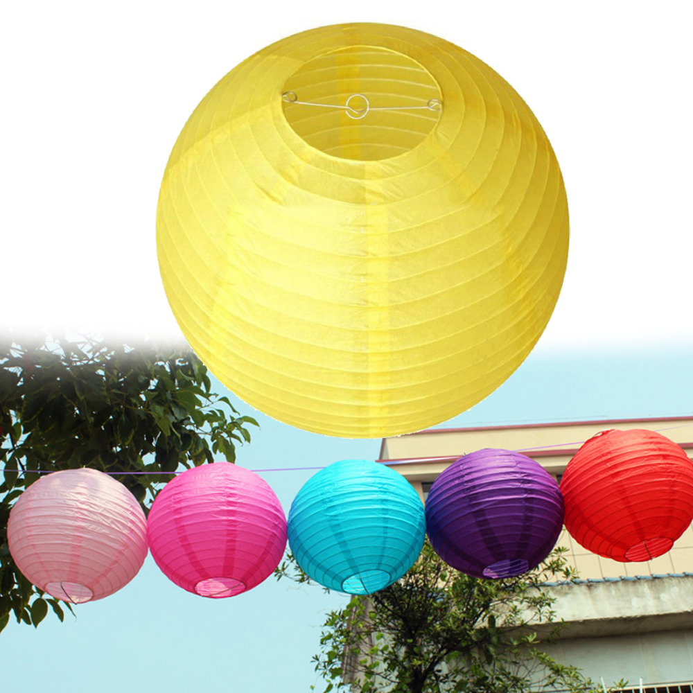 Fairy lights Mulit color option 8 inch 20cm Round Chinese Paper Lantern for Wedding Party Decor gift craft DIY party decorate