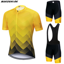MAKOSHARK Cycling jersey Set Summer Bicycle Clothing Maillot Ropa Ciclismo Hombre MTB Bike Clothes Sportswear Suit