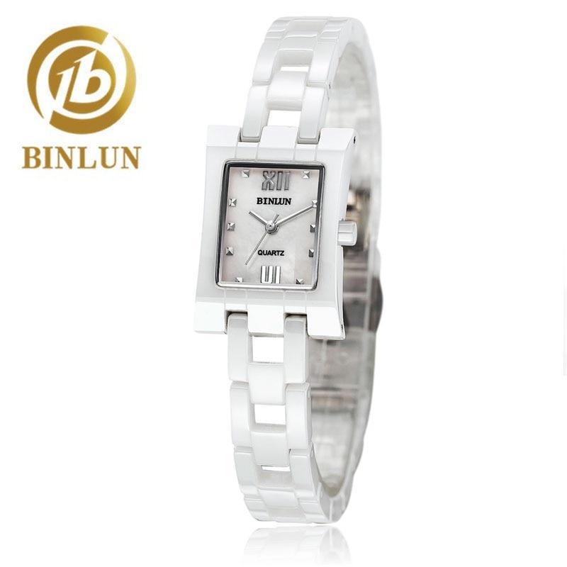 BINLUN Ceramic Quartz Watch Women Casual Luxury Brand Wristwatches Gift Bracelet Daily Waterproof