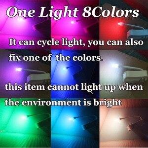 Image 5 - 1 pièce 2 pièces 8 lampes LED changeantes de couleur lumière corps salle de bains mouvement bol toilettes veilleuse activé On/Off lumières siège capteur lampe