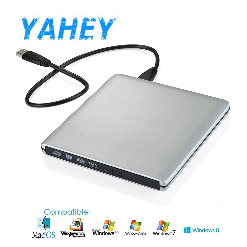 Yahey Bluray Player External Optical Drive USB 3.0 Blu-ray BD-ROM CD/DVD RW Burner Writer Recorder Portable for Macbook Laptop free shipping mjx x101 2 4g 4 channels r c quadcopter rc drone 7 4v 1200 mah li po battery
