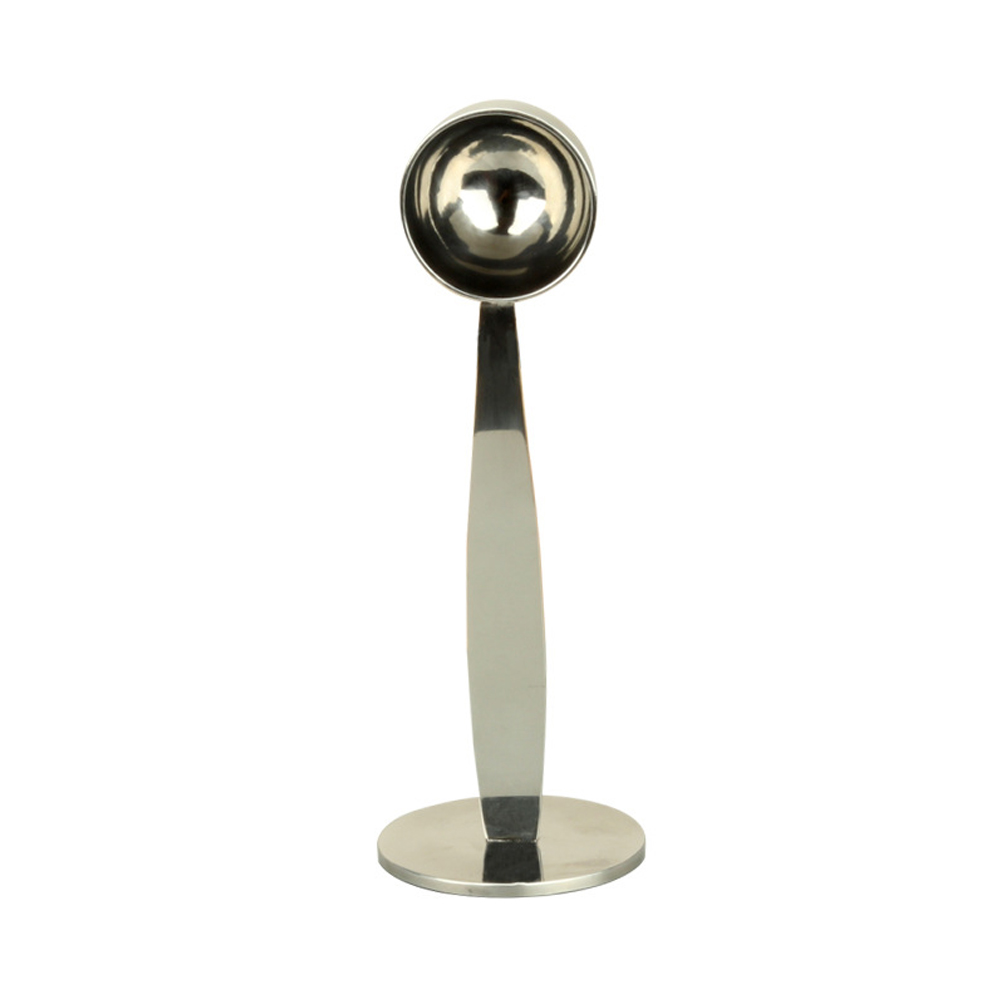 Accessories Coffee Scoop With Stand Silver Kitchen Tools Measure Tamper Stamp Powder Press Tamping Stainless Steel Tea Spoon