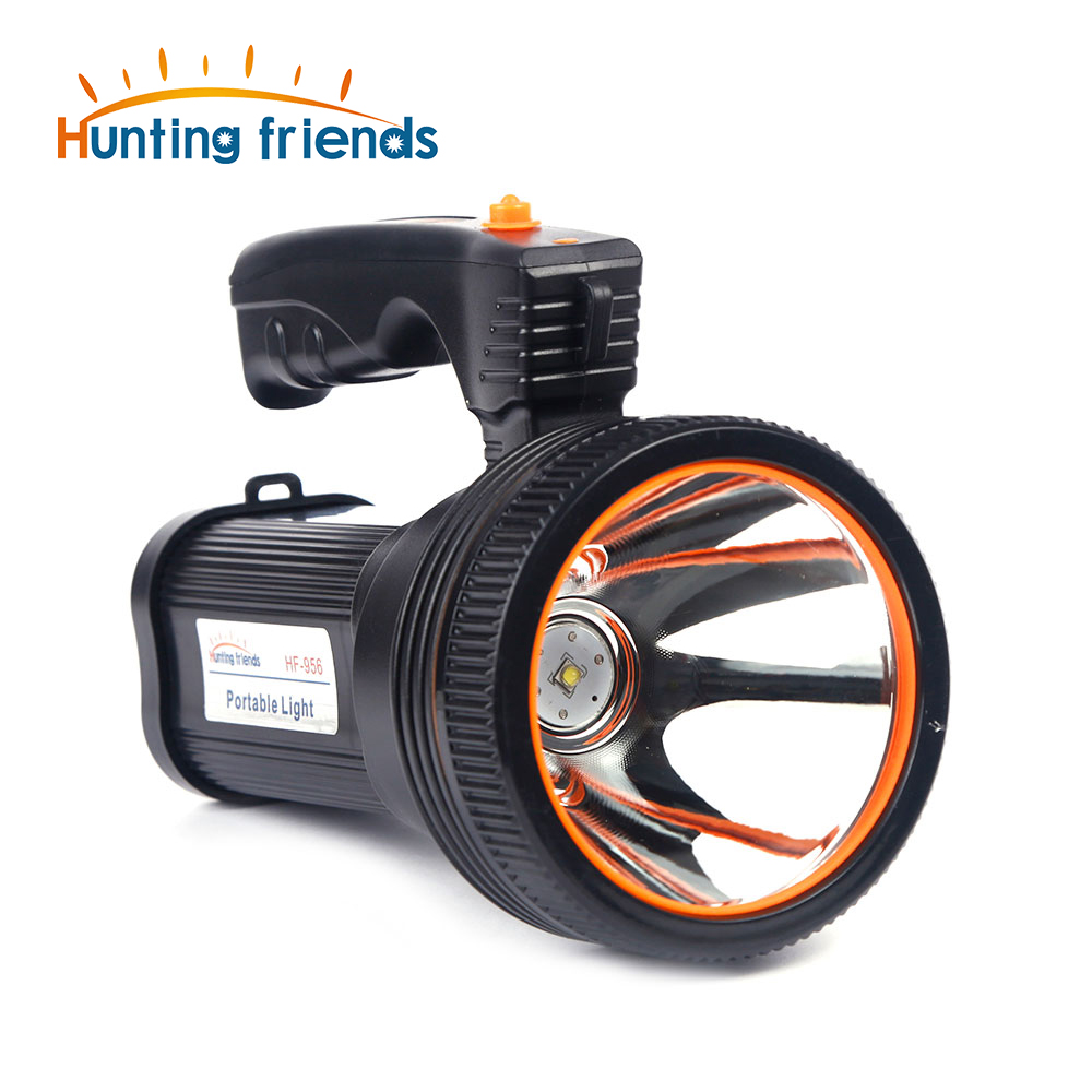 Hunting Friends Rechargeable Portable Spotlight USB LED Flashlight 2 Modes Powerful Seacrchlight+US/EU Charger+ Shoulder Strap image