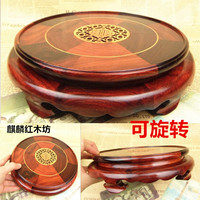 Kylin rosewood crafts stone jade vase bonsai rosewood wooden head round base 2015 of the Qixi Festival