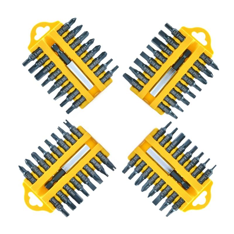 """17 vnt. Atsuktuvų antgaliai S2 elektrinis atsuktuvas """"Torx Phillips Hex Flex"""" kvadratinių sraigtų suktuvų antgalių rinkinys """"Multitul"""" rankinių įrankių rinkinys"""
