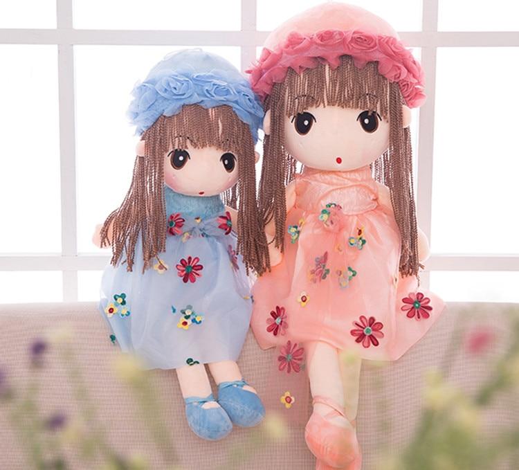 45cm 55cm Flower Fairy Doll Little Girl Plush Toy Doll Princess