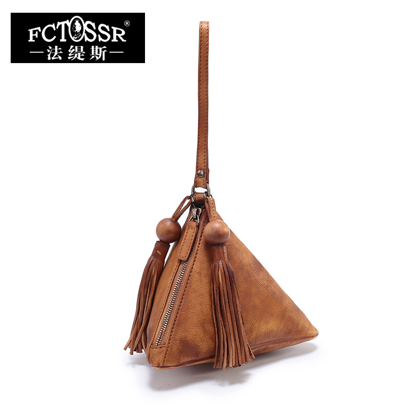 Cowhide Bags Women Handbags Handmade Genuine Leather Top-Handle Bags Small Ladies Hand Bags