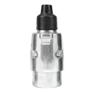 7 Pin 12 вольт алюминиевая розетка многофункциональный кабельный разъем для грузовика Европейский тип трейлер сигнальная лампа дисплей