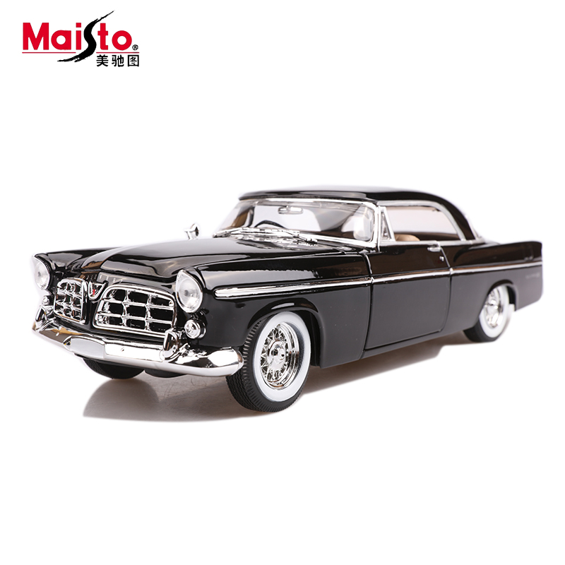 Maisto 1956 Chrysler 300B  1:18 Scale Alloy Model  Metal Diecast Car Toys High Quality Collection Kids Toys Gift 1 18 scale maisto classic children 1956 chrysler 300b antique vintage car metal diecast vehicle gift model kids toys collectible