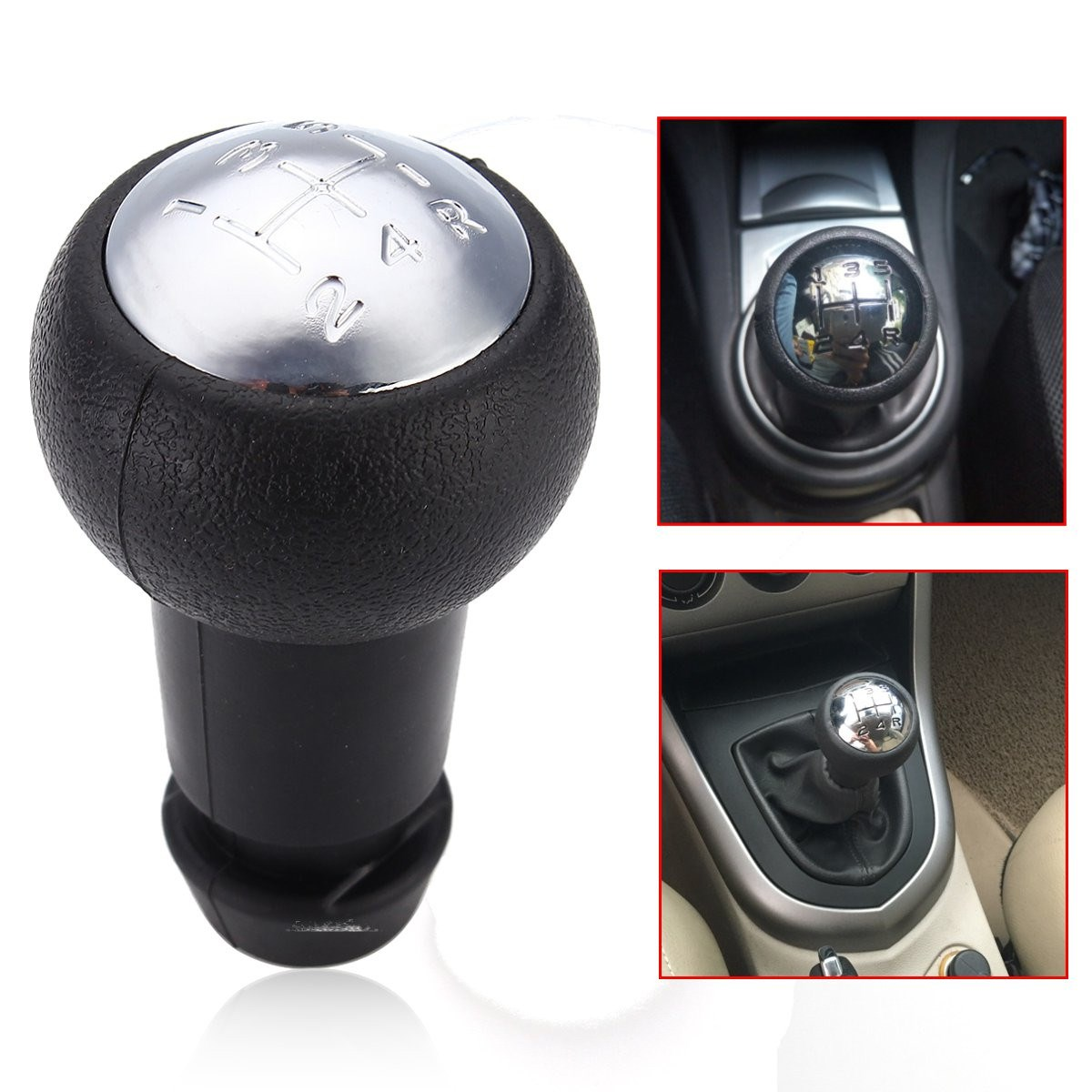 5 Speed Gear Shift Knob For Peugeot 307 106 for Citroen/Saxo/Xsara C2 C3 C4 for Berlingo Black and Chrome idle air control valve for citroen berlingo saxo for peugeot 106 306 partner seat ibiza for vw golf polo 19203r 19205z 032133031