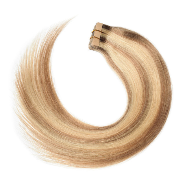 Tape In Hair Extensions Nordic Color 100% Remy Human Hair