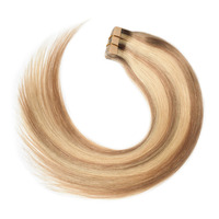 Rechoo Tape In Hair Extensions Nordic Color 100% Remy Human Hair P16/22 T4/27/P4 Color 50G/Pcs Straight Brazilian Tape In Hair