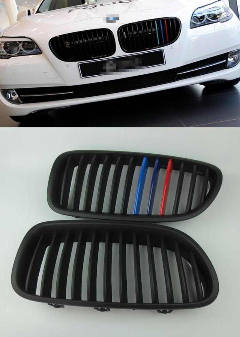 3 цвета краски ABS хромированная решетка радиатора Новый AMG решетки для BMW F10 F18 520Li 523li 525i 528i 530i 535i 2011 2014 автомобилей передний сетчатый гриль
