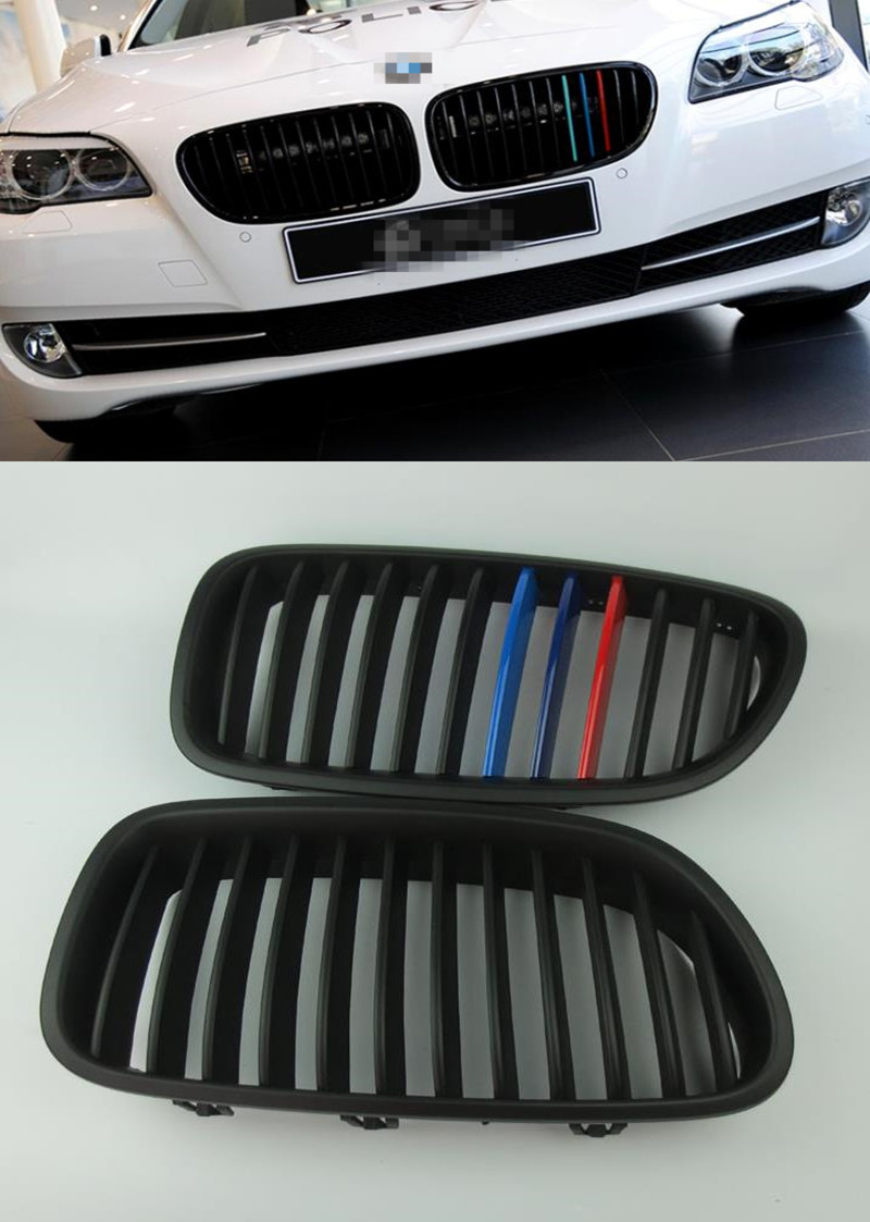 3 Color paint ABS Chromed Grille NEW AMG Grilles for BMW F10 F18 520Li 523li 525i 528i 530i 535i 2011 2014 car Front Mesh Grill