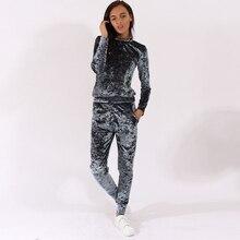 Velvet Women RomperTracksuit Long