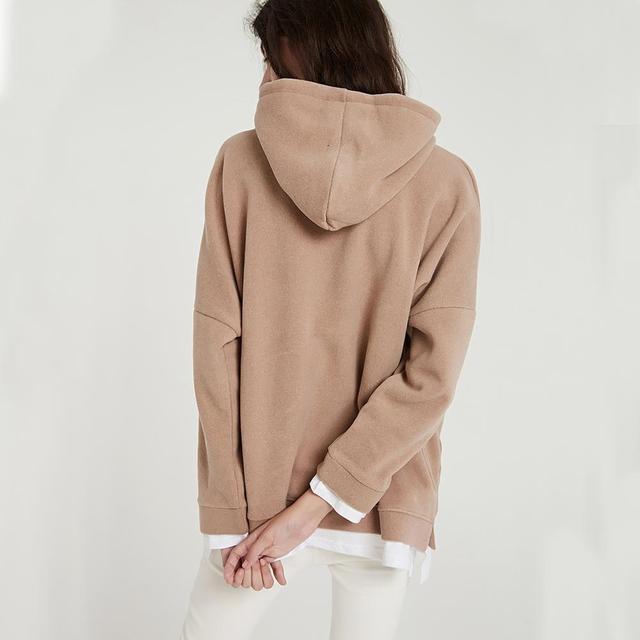 Wixra Women Casual Sweatshirts Warm Velvet Long Sleeve Oversize Hoodies Tops 2019 Autumn Winter Pullover Tops 4
