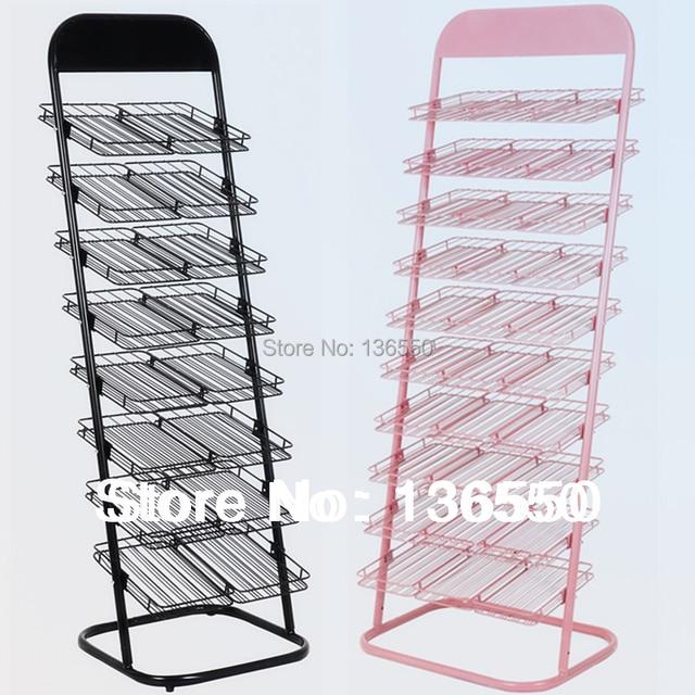 YEON Flooring metal nail polish display shelf stand rack for nail art,10 or 8 layers