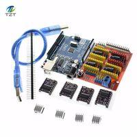 Free Shipping Cnc Shield V3 Engraving Machine 3D Printe 4pcs DRV8825 Driver Expansion Board For Arduino