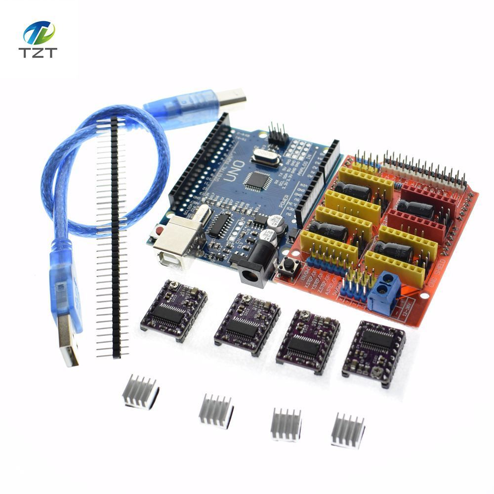 Free Shipping Cnc Shield V3 Engraving Machine 3D Printe 4pcs DRV8825 Driver Expansion Board For Arduino