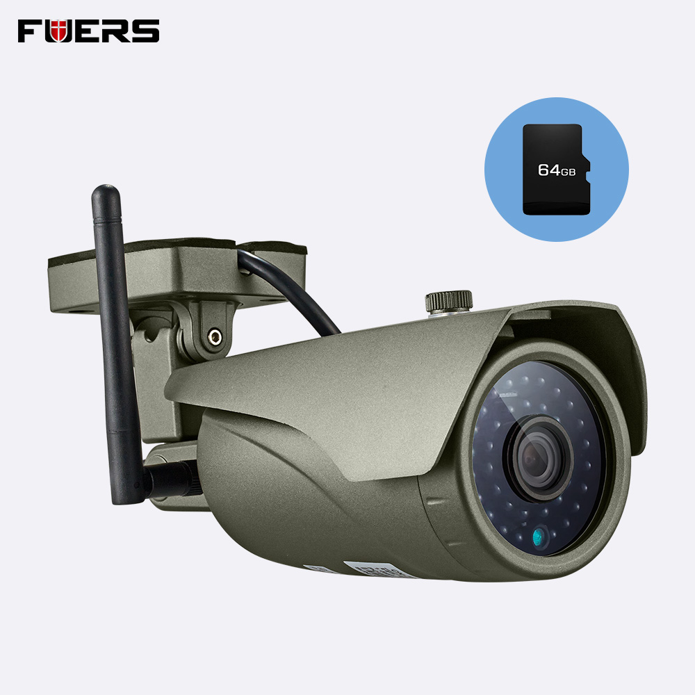 FUERS Waterproof Real time Viewing WiFi IP Camera Full HD 1080P Outdoor Surveillance Camera Infrared Night