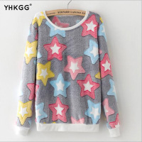 New Cute Woman Print Hoodie Spring Autumn Long Sleeved Casual Sweaters Moleton Femininity Oversized