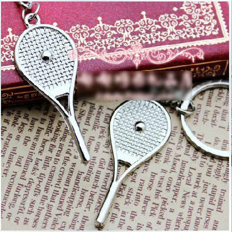 Tennis bag Pendant alloy mini tennis racquet key ring small Ornaments sport keychain fans souvenirs key chain gifts