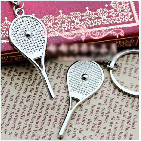 Tennis Bag Pendant Alloy Mini Tennis Racquet Key Ring Small Ornaments Sport Keychain Fans Souvenirs Key Chain Gifts