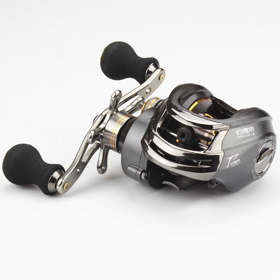 12+1BB 6.3:1 High Quality Right Hand Baitcasting Fishing Reel Bait Casting Reels Fishing Reels Saltwater Grey FL018