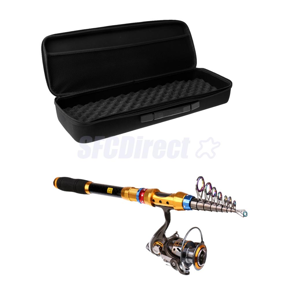 Portable Lure Rod Set Spinning Rod Fishing Reel Combos Full Kit 3.0 M Fishing Rod Pole Reel Line Lures Hooks Waterproof Bag Case small size soft eva fishing reel protective reel bag case cover for drum spinning raft reel fishing pouch bag