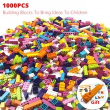 1000 sztuk kolorowe cegły kompatybilne klasyczne klocki klocki dzieci kreatywne zabawki z klocków dla dzieci dziewczyny urodziny zabawki prezentowe