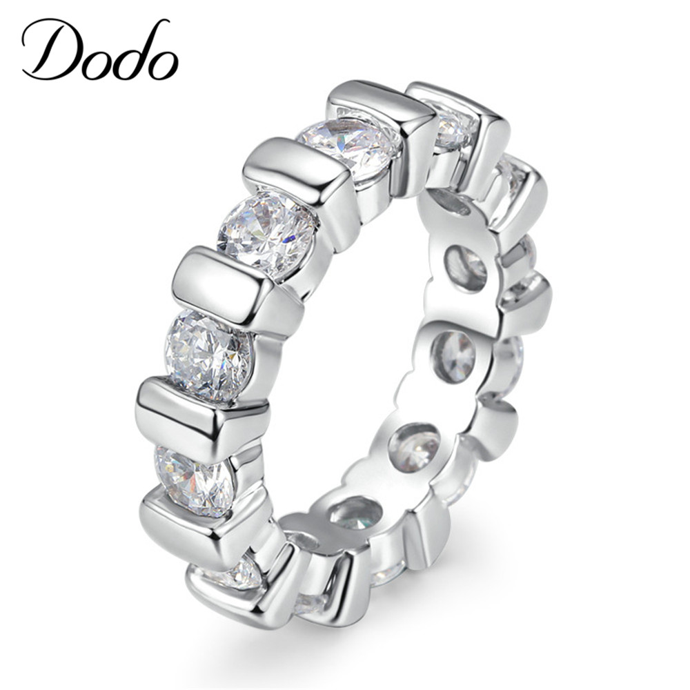 Silver plated jewelry Rings for women engagement wedding punk bague femme party ring couronne anillos de plata Bijoux gift DR051