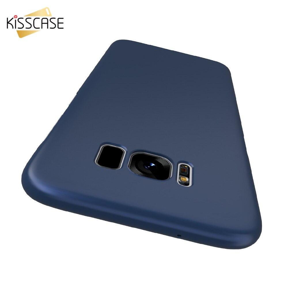 Kisscase s8 más case para samsung galaxy s8 original ultra delgado pc accesorios