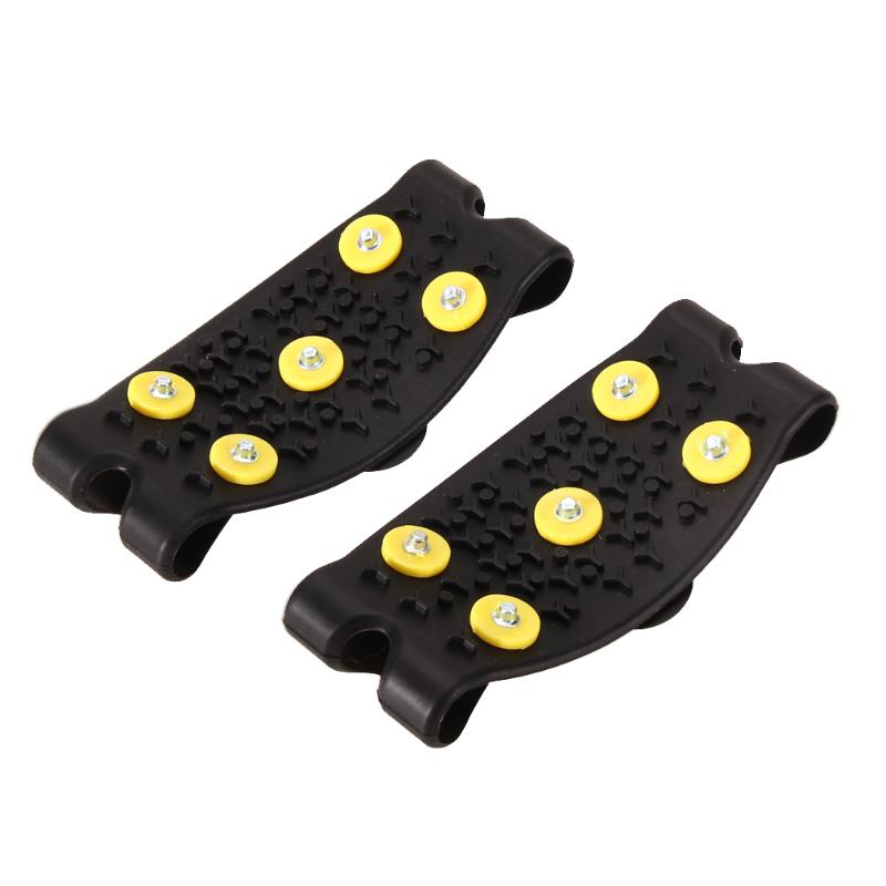 Snow Ice Climbing Anti Slip Spikes Grips Crampon escalada Cleats 5-Stud Shoes Cover Skiing Walking Hiking climbing snowshoes