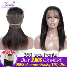 Malaysia Straight Hair 360 Lace Frontal Can Do Wigs 1pc Free Part Remy Human Hair Buy 2 PCS or More Fast Free Ship Lace Closure(China)