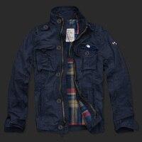 Для мужчин повседневная Хлопчатобумажная Куртка двойной слой Новинка 2017 ветрозащитный модный бренд куртка Для мужчин куртка пальто