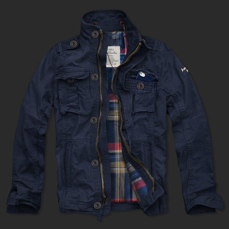 Homme décontracté veste en coton double couche 2017 nouvelle mode coupe-vent veste de marque hommes veste manteau