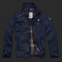 Мужская повседневная хлопковая куртка двойной слой 2017 новая ветрозащитная Модная брендовая куртка мужская куртка пальто